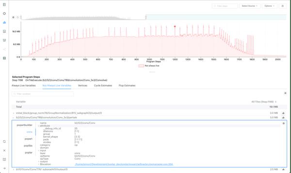 Enhanced debug information for a ONNX operation