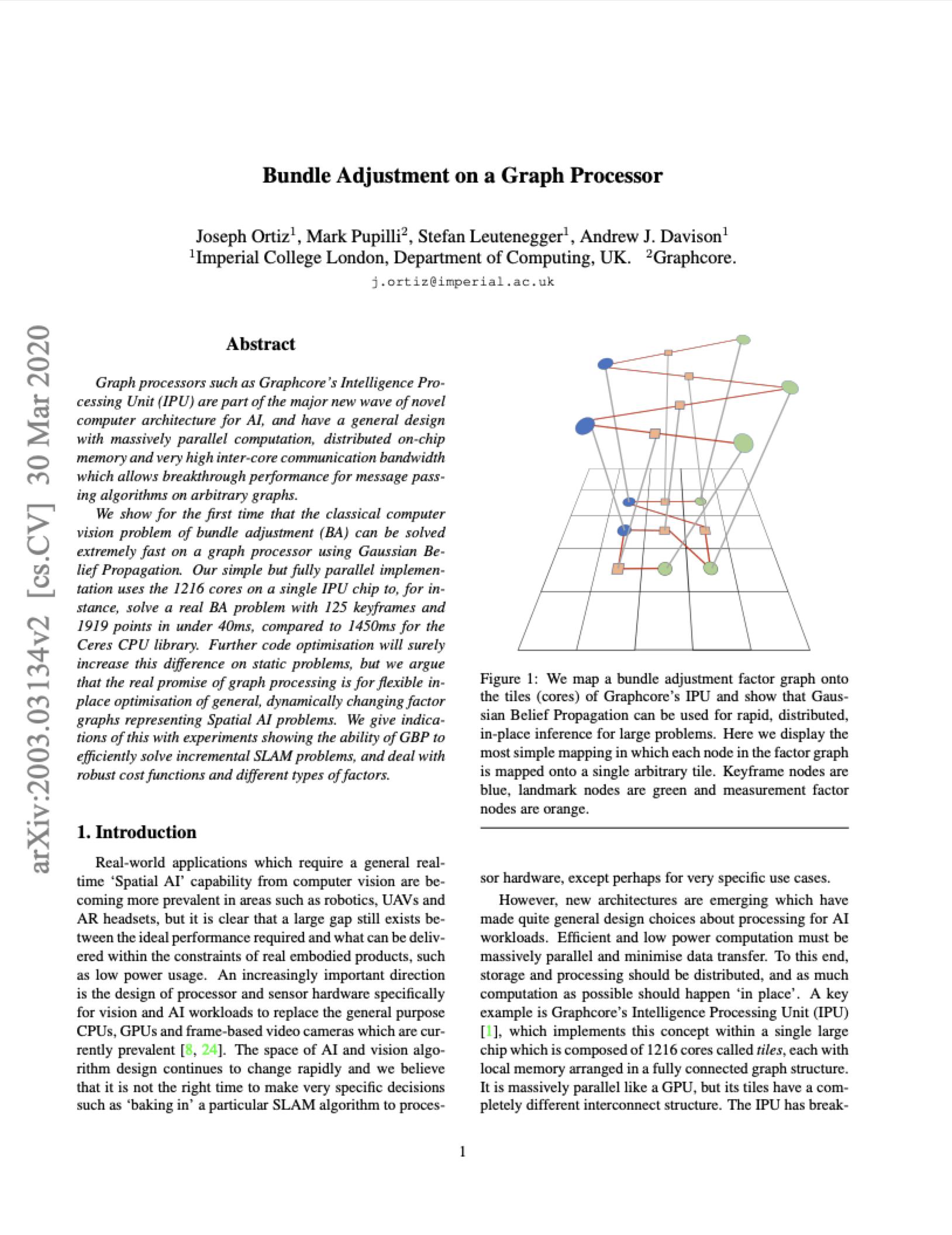Imperial College London: Bundle Adjustment on a Graph Processor