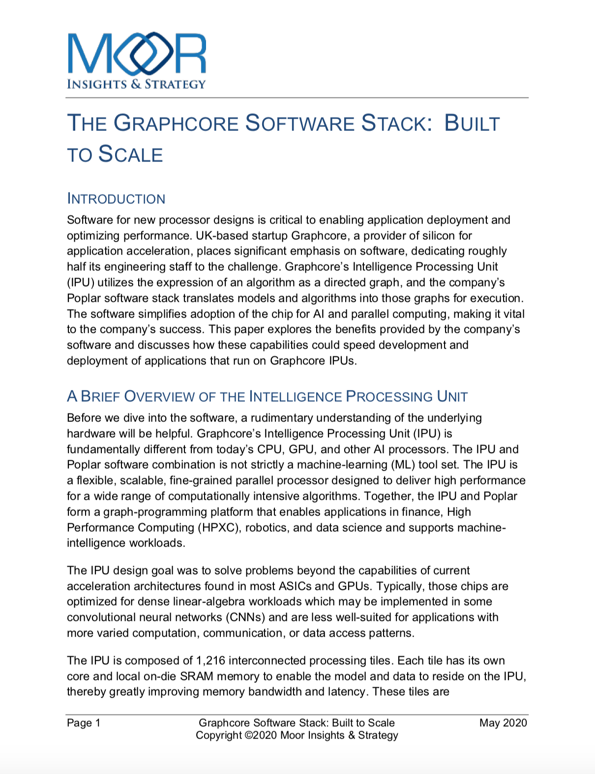 Moor Insights - Graphcore Software Stack: Built to Scale